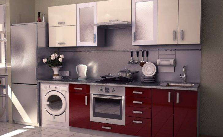 Modular Kitchens Small Marvelous White