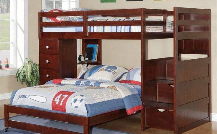 Modular Staircase Loft Caster Bed Cappuccino Donco