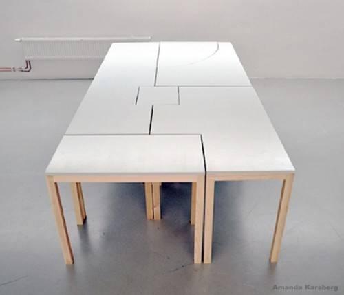 Modular Table System Desk Shoebox Dwelling Finding Comfort Style