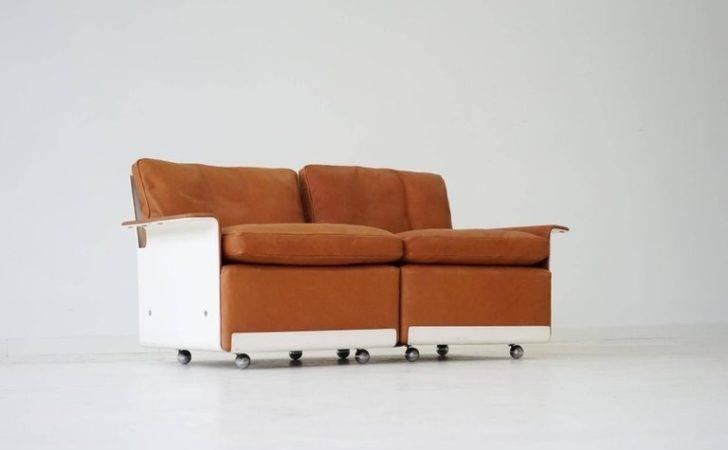 Modular Two Seat Sofa Leather Dieter Rams