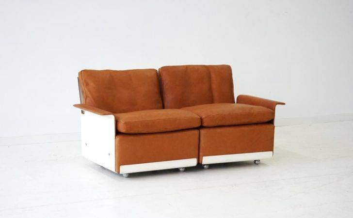 Modular Two Seater Sofa Leather Dieter