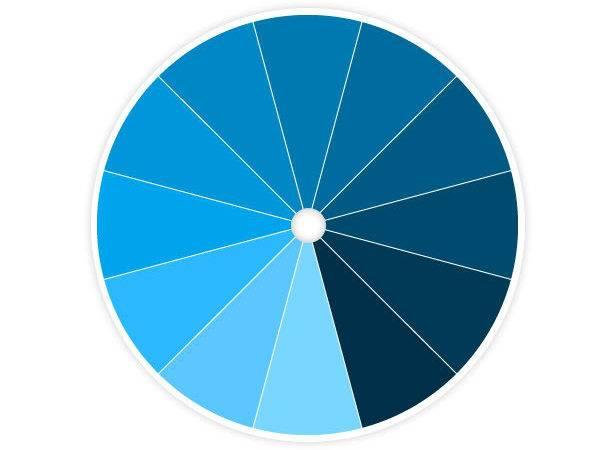 Monochromatic Blue Create Color Scheme All