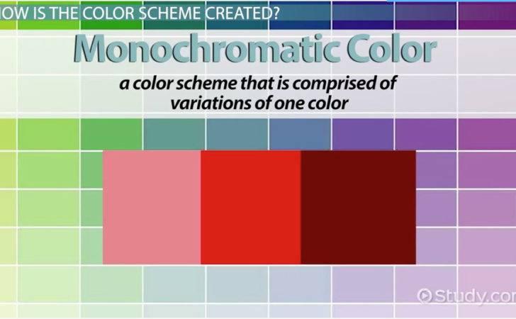 Monochromatic Colors Example Color Definition Schemes