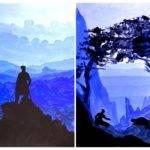 Monochromatic Landscape Painting