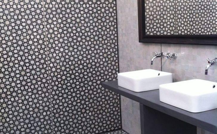 Monochrome Moroccan Style Bathroom Tiles Home Inspiration