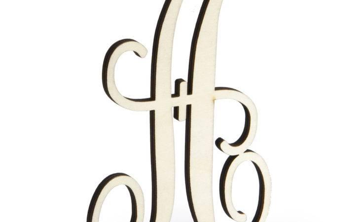 Monogram Wood Letter