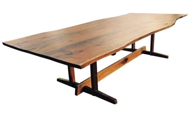 Monumental Custom Nakashima Style Live Edge Dining Table Stdibs