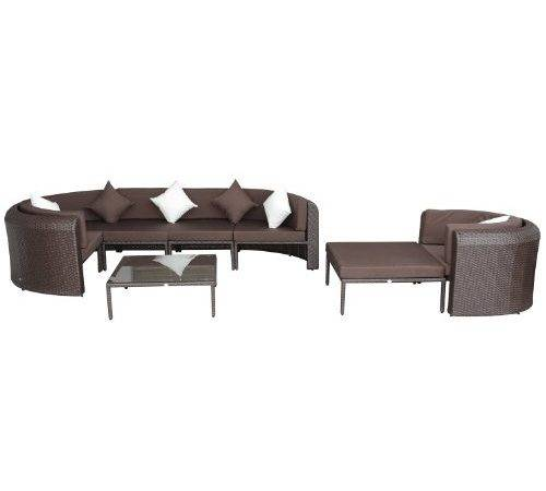 Moon Sectional Sofa Furniture Set Sale Rattan