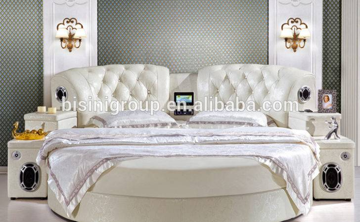 Mordern Leather Round Bed Hotel Musical