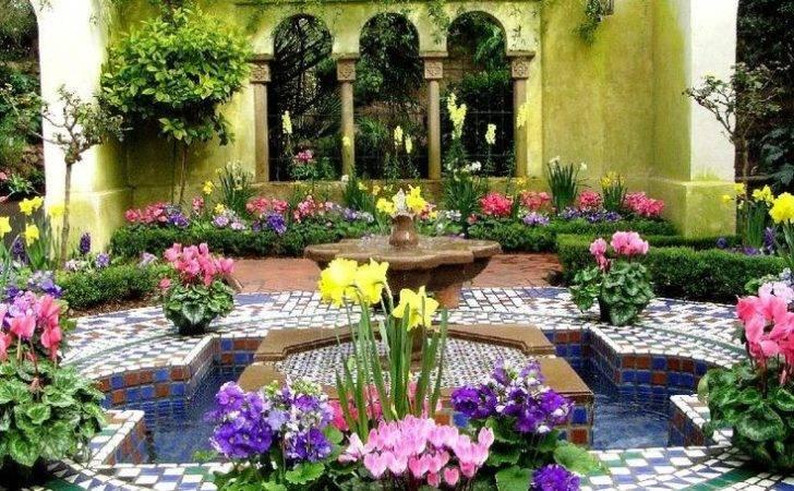 Moroccan Garden Gardening Pinterest