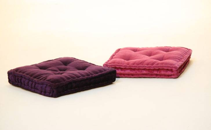 Moroccan Prop Hire Velvet Padded Floor Seat Cushions Purple Pink