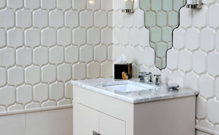 Moroccan Tiles Bathroom Modern Chrome Cream Marble