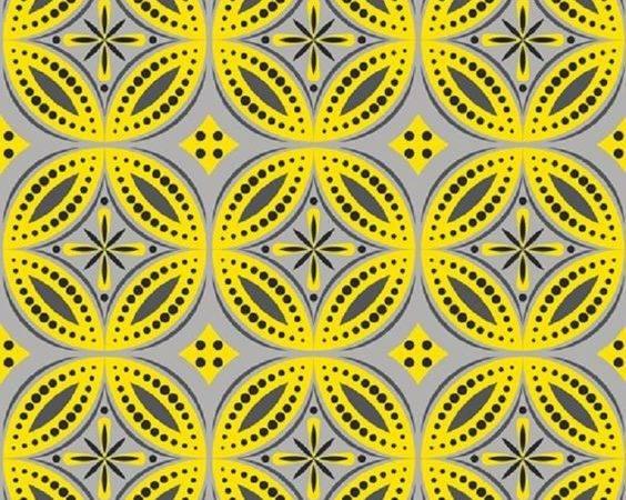 Moroccan Tiles Modern Grey Yellow Pinterest