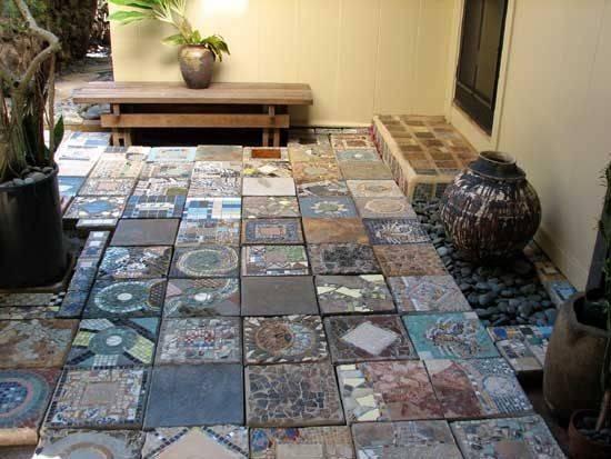 Mosaic Stepping Stones Pinterest