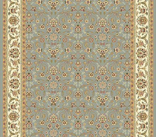 Motif Greyish Blue Ivory Rug Traditional Rugs Overstock
