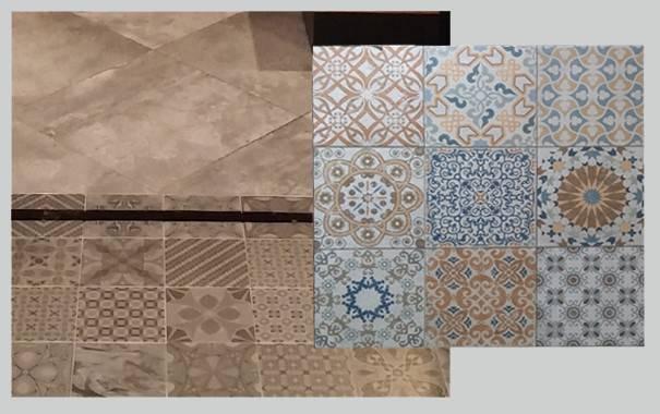 Motif Pattern Tiles Selected Floor Layer Kitchen