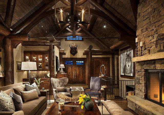 Mountain Home Remodel Rustic Living Room Other Metro