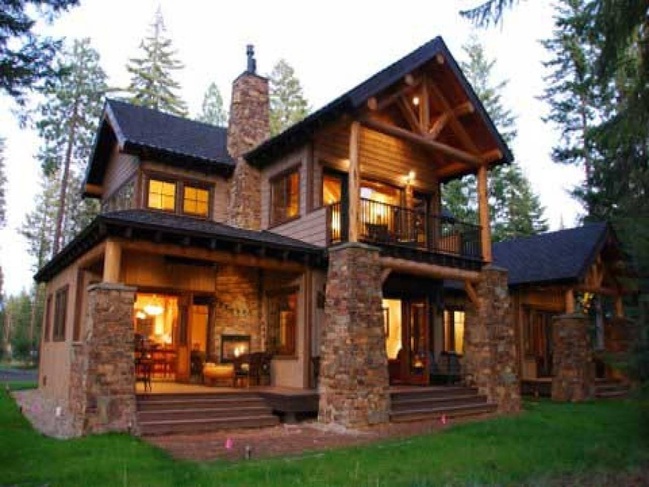 Mountain Lodge Style Home Plans Small Craftsman Homes