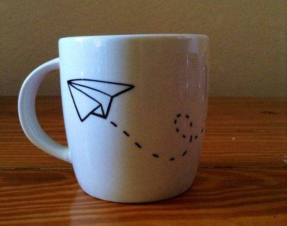 Mug Idea Crafts Such Pinterest Airplanes Sharpie Mugs