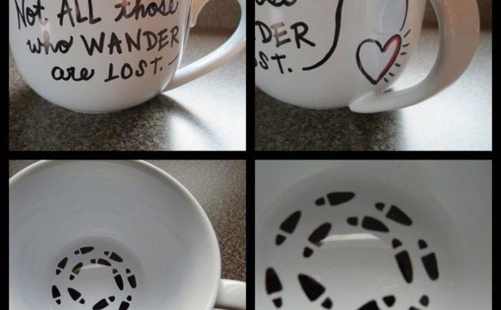 Mugs Potter Crafts Diy Sharpie Gifts Footprint Mug