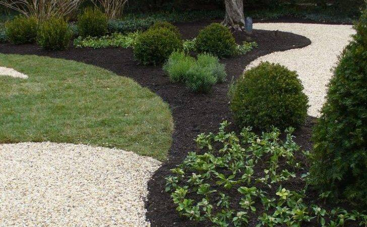 Mulch Black Decorative Grass Landscaping Ideas Front Yards