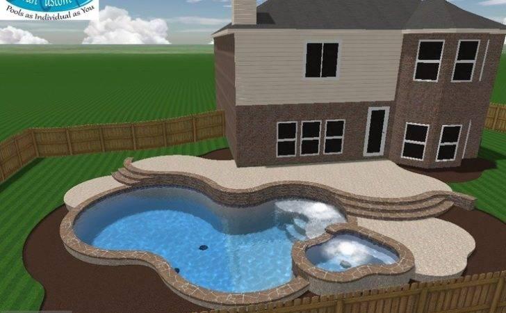 Mulit Level Pool Spa Deck Flagstone Trim Coping