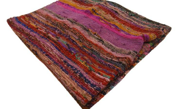 Multicolor Chindi Rug Rags Handmade Mat Recycled Cotton Floor Runner