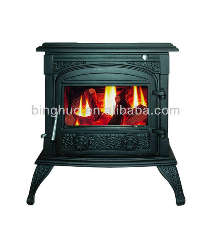 Multifuel Stove Modern Stylish Wood Burning Back Boiler