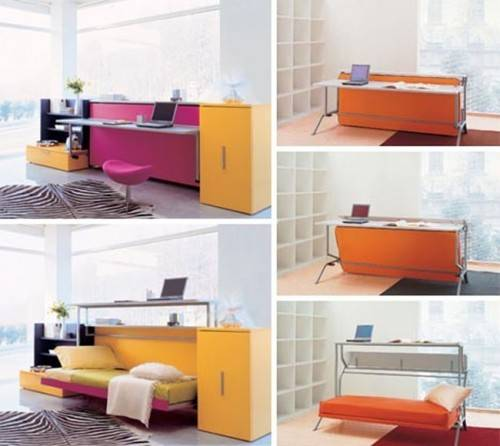 Multifunction Convertible Furniture Modern Couch Desk