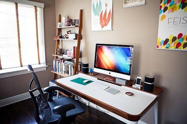 Multitasking Desk Restrained Shelf Space Minimalist