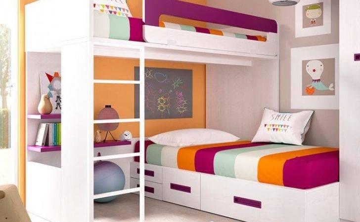 Mundo Joven Children Bedroom Bunk Bed Desk Bedside Cabinet