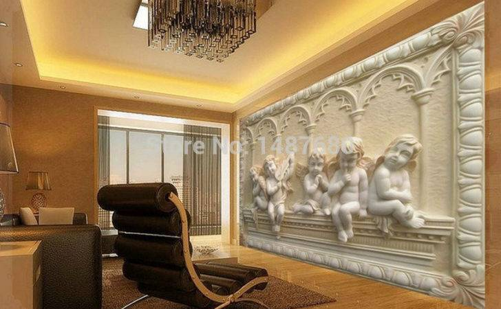 Mural European Style Stereoscopic Relief Jade Living Room