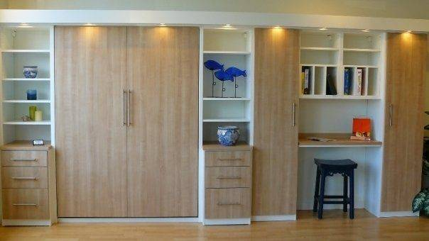Murphy Bed Desk Combo Room Ideas Pinterest