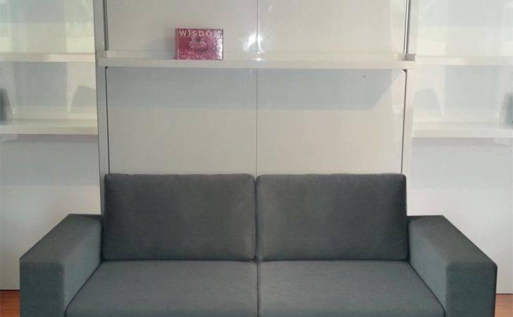 Murphy Bed Floating Balanced Bookshelf Into Leg Base Shelving
