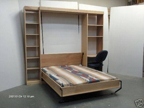 Murphy Panel Bed Desk Side Cabinet