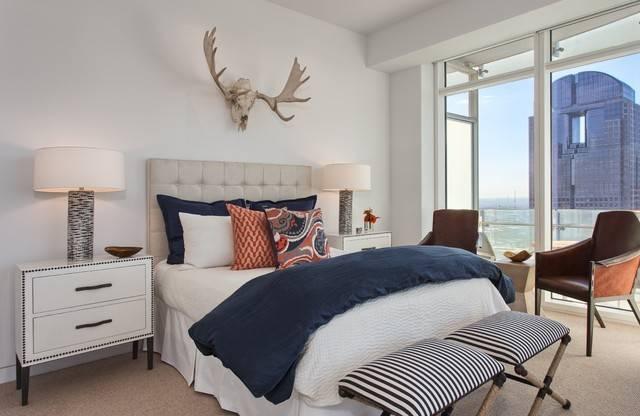 Museum Tower Rustic Bedroom Dallas Glynis Wood Interiors