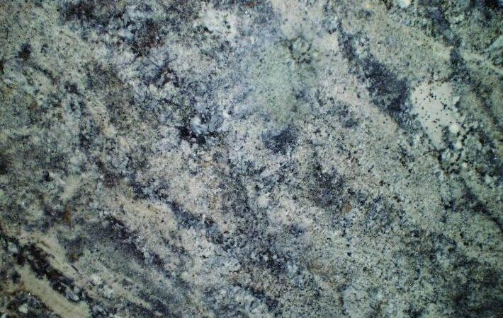 Muted Blue Stone Medium Flecks White Green Veins