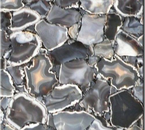Muted Grey Agate Slice Countertop Carpet Tile Pinterest