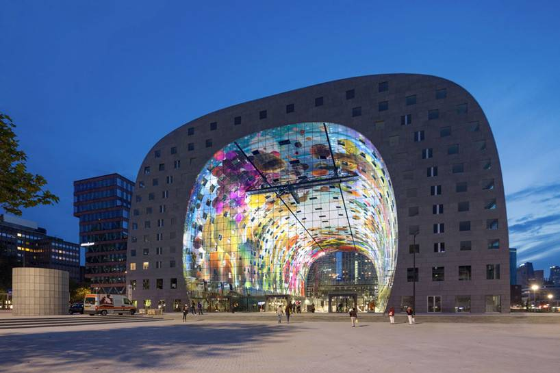 Mvrdv Designed Markthal Housing Market Hall Opens Rotterdam