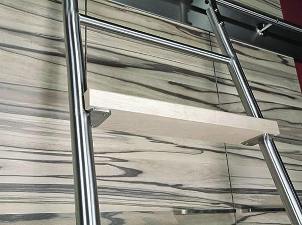 Mwe Modern Sliding Library Ladders Metro
