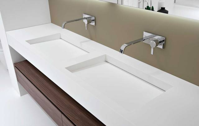 Myslot Integrated Sink Modern Bathroom Sinks Miami