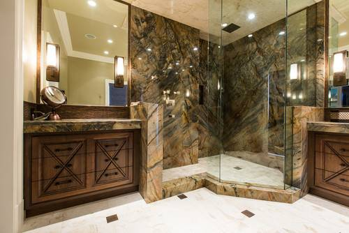 Name Stone Shower Walls