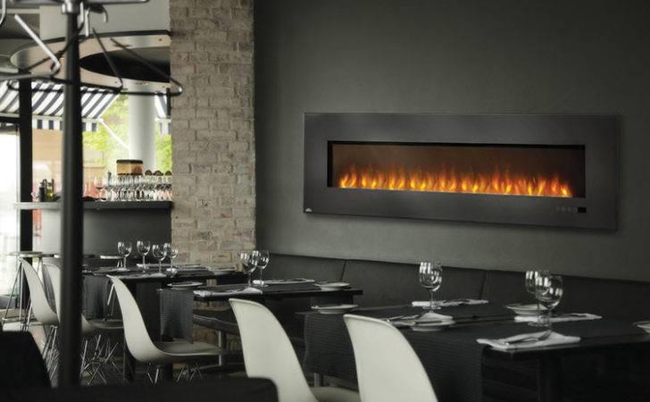 Napoleon Inch Slimline Black Wall Mount Electric Fireplace Efl