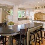 Narrow Counter Height Table Kitchen Traditional Custom