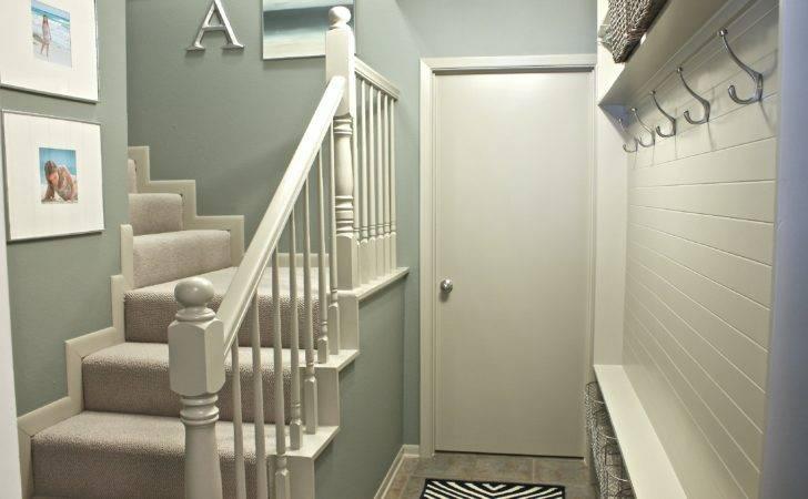 Narrow Hallway Built Diy Mudroom