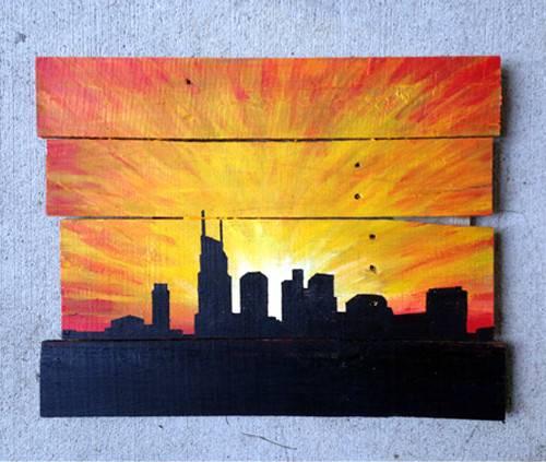 Nashville Pallet Paintings Levi Watson