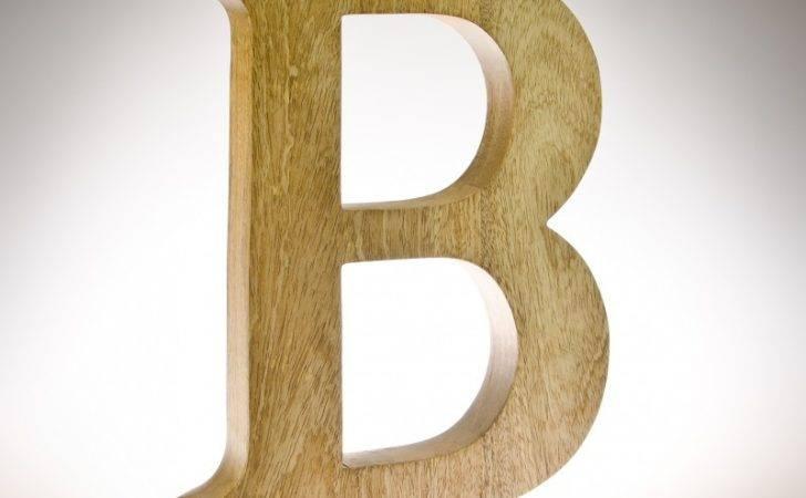 Natural Mango Wood Letters