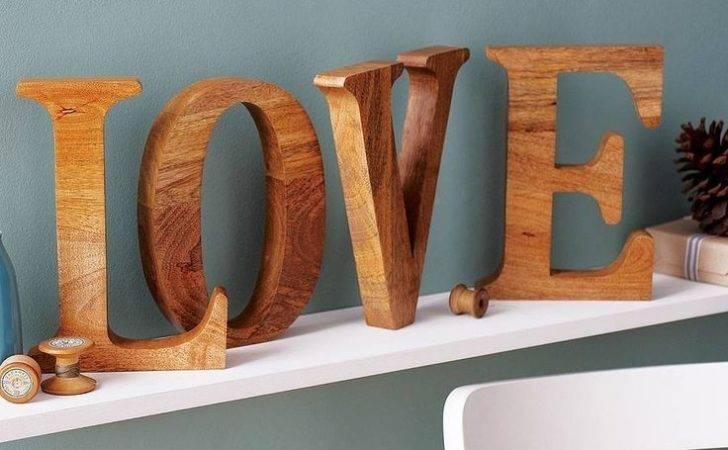 Natural Mango Wooden Letter