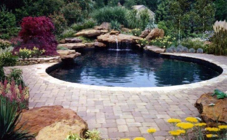 Natural Rock Swimming Pool Designs Ideas Lighting Decoration