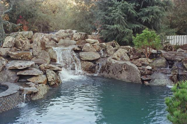 Natural Rock Waterfall Pool Rustic San Francisco